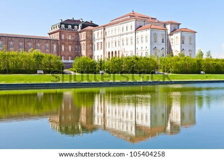 Italy - Reggia di Venaria Reale. Luxury royal palace - stock photo