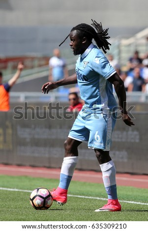 Italy, Rome, May 7th 2017:Lukaku  in action during the football  match Seria A Italian between S.S. Lazio vs U.c. Sampdoria  in Olimpic Stadium in Rome on 7 May 2017.