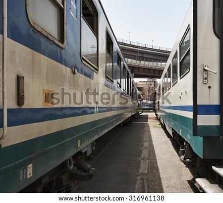 Italy, Rome, trains deposit - stock photo