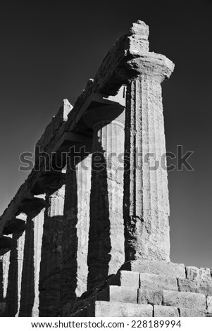 Italy, Sicily, Agrigento, Greek Temples Valley, Juno Temple (480-420 b.C.) - stock photo