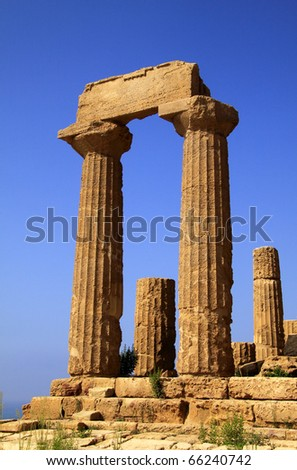 Italy Sicily Agrigento Valley of The Temples Greek ruins Temple of Era