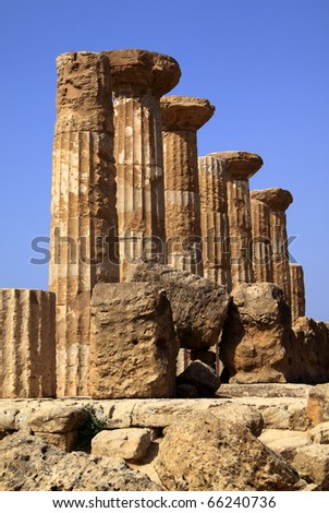 Italy Sicily Agrigento Valley of The Temples Greek ruins Temple of Hercules