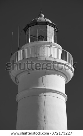 Italy, Sicily, Mediterranean sea, Punta Secca (Ragusa Province), view of the lighthouse