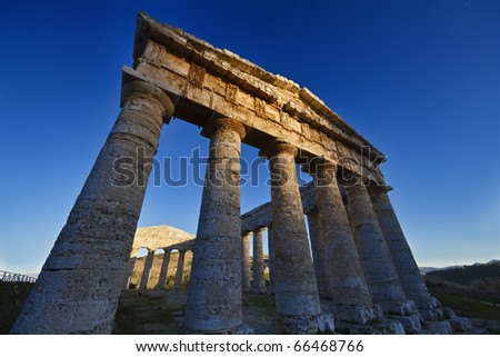 Italy, Sicily, Segesta, Greek Temple