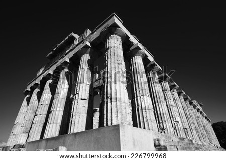 Italy, Sicily, Selinunte, Greek Hera Temple (409 b.C.) - stock photo