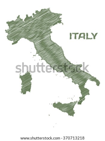 Italy sketched map