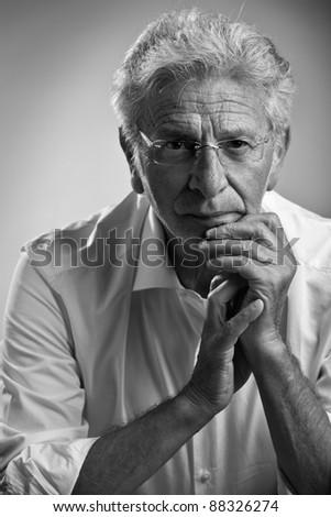 Italy, studio portrait af middle age business man