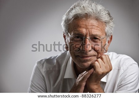 Italy, studio portrait af middle age business man - stock photo