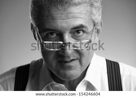 Italy, studio portrait of a middle age business man