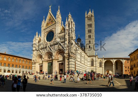 Italy, Tuscany, Siena, the Duomo, the old city, on October 7, 2014.