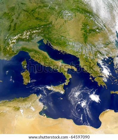 Italy view from space.