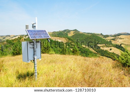 Italy, weather station on Apennines hills near Modigliana, Romagna - stock photo