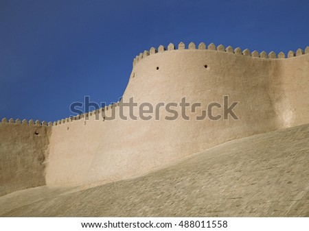 Itchan Kala walls - Old Town of Khiva, Uzbekistan