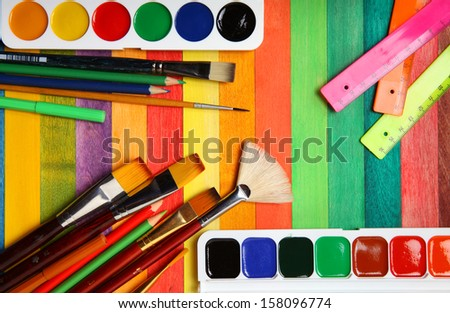 Items for drawing - stock photo