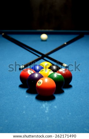 Its A Good Day To Play Some Pool. 9 Ball Set Up
