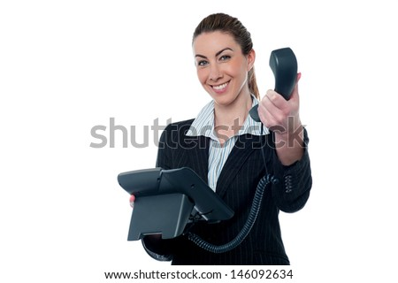 Its an important business call for you. - stock photo
