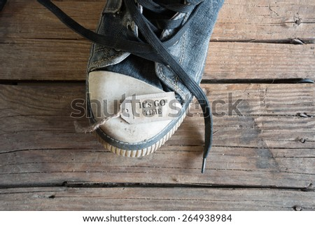 its go time concept - stock photo