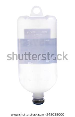IV bag isolate on white background - stock photo