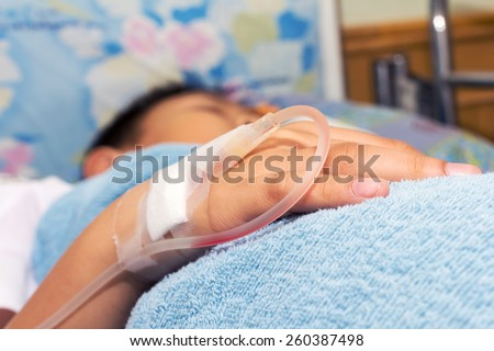 Iv Solution Childs Patients Hand Stock Photo 260661419