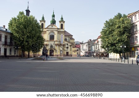 IVANO-FRANKIVSK, UKRAINE: Former Collegiate Church of Virgin Mary, now Regional Art Museum - stock photo