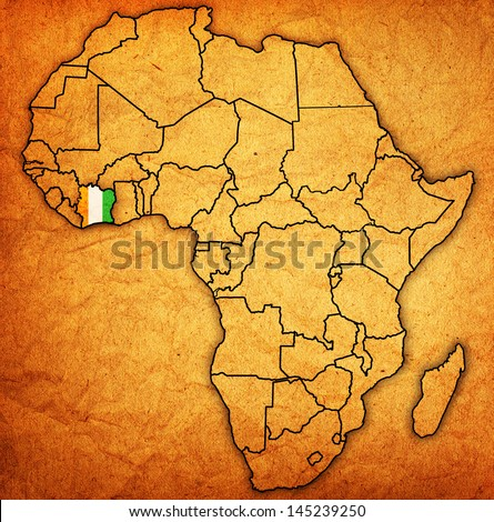 Ivory Coast Map Stock Images RoyaltyFree Images Vectors - Ivory coast map of africa