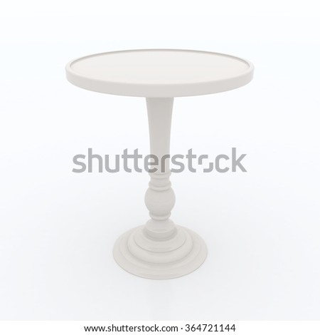 ivory high top table isolated on white background