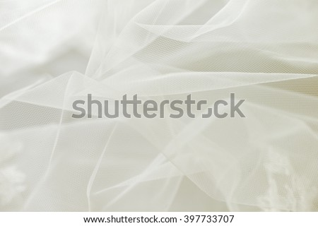 Ivory wedding tulle or chiffon background