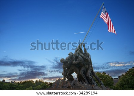 Iwo Jima Memorial at Dusk