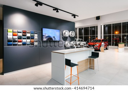 Izhevsk Russia 08 March Brand New Design Of The Lada Showroom Interior
