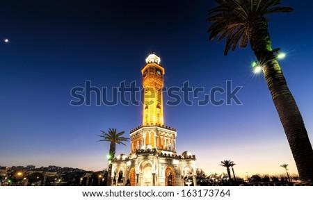 Izmir Clock Tower - stock photo