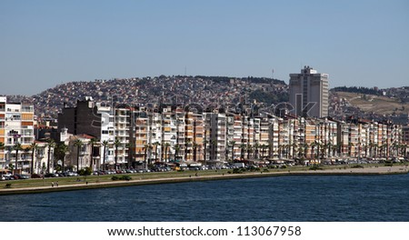 IZMIR, TURKEY - JUNE 28: City of Izmir is a large metropolis in the western extremity of Anatolia and the third most populous city in Turkey, June 28, 2012 in Izmir, Turkey.