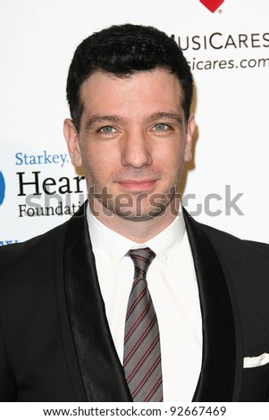 J.C. Chasez at the MusiCares Tribute To Barbra Streisand, Los Angeles Convention Center, Los Angeles, CA. 02-11-11