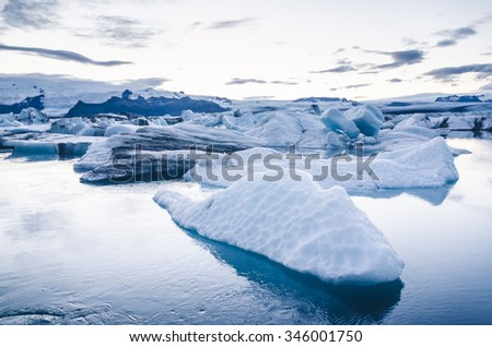 J�?�¶kuls�?�¡rl�?�³n ice lagoon in Iceland - stock photo