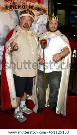 Jack Black and Kyle Gass at the Los Angeles premiere of 'Tenacious D: The Pick of Destiny' held at the Grauman's Chinese Theatre in Hollywood, USA on November 9, 2006.