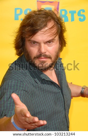 "Jack Black at the 2009 PS Arts ""Express Yourself"" Creative Arts Fair, Barker Hanger, Santa Monica, CA. 11-15-09 - stock photo"