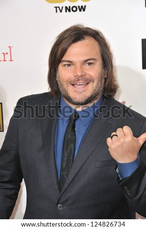 Jack Black at the 18th Annual Critics' Choice Movie Awards at Barker Hanger, Santa Monica Airport. January 10, 2013  Santa Monica, CA Picture: Paul Smith - stock photo