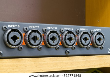 Jack connectors and xlr - stock photo