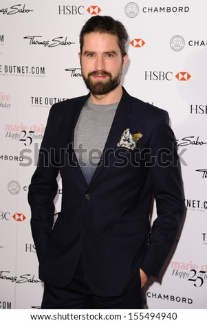 Jack Guinness arriving for the Marie Claire's 25th Anniversary celebration at the Cafe Royal Hotel, London. 17/09/2013