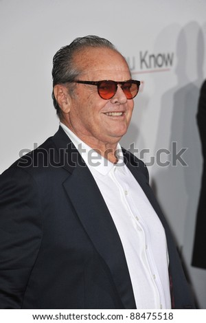 "Jack Nicholson at the world premiere of his new movie ""How Do You Know"" at the Mann Village Theatre, Westwood. December 13, 2010  Los Angeles, CA Picture: Paul Smith / Featureflash"