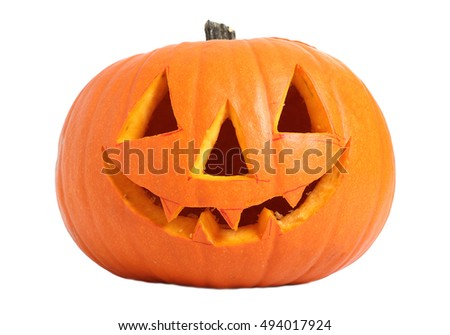 Jack o lantern. Isolated on a white background.