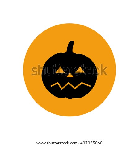 Jack-o-lantern pumpkin halloween on the white background.  illustration