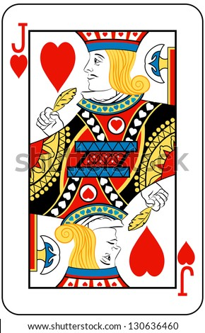 Jack of Hearts playing card - stock photo