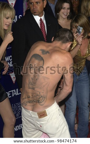 Jackass actor STEVE-O at the Los Angeles premiere of Wonderland. Sept 24, 2003  Paul Smith / Featureflash - stock photo