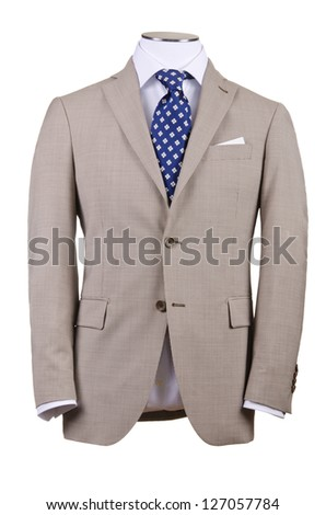 Jacket isolated on the white background - stock photo