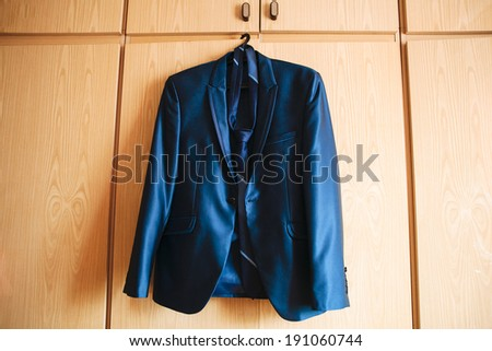 jacket on a hanger - stock photo