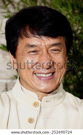 """Jackie Chan at the Los Angeles Premiere of """"The Karate Kid"""" held at the Mann Village Theater in Westwood, California, United States on June 7, 2010. - stock photo"""