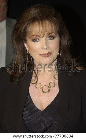 JACKIE COLLINS at fashion show event on Rodeo Drive, Beverly Hills, where designer Giorgio Armani was honored with the first Rodeo Drive Walk of Style Award. Sept 9, 2003  Paul Smith / Featureflash