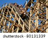 JACKSON, NEW JERSEY - JUNE 25. Guests having fun on one of Six Flags Great Adventure's newest roller coasters the El Toro, Jackson on June 25, 2011. - stock photo