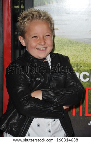 """Jackson Nicoll at the premiere of his movie """"Jackass Presents: Bad Grandpa"""" at the TCL Chinese Theatre, Hollywood. October 23, 2013  Los Angeles, CA - stock photo"""