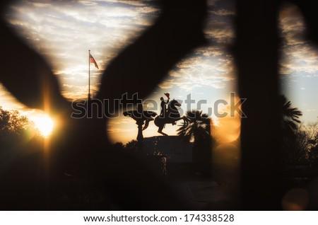 Jackson Square, French Quarter, New Orleans at sunrise. - stock photo